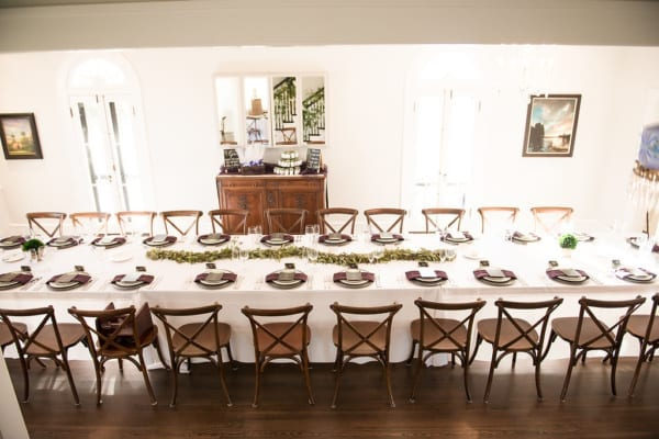 family style seating, large tables, family
