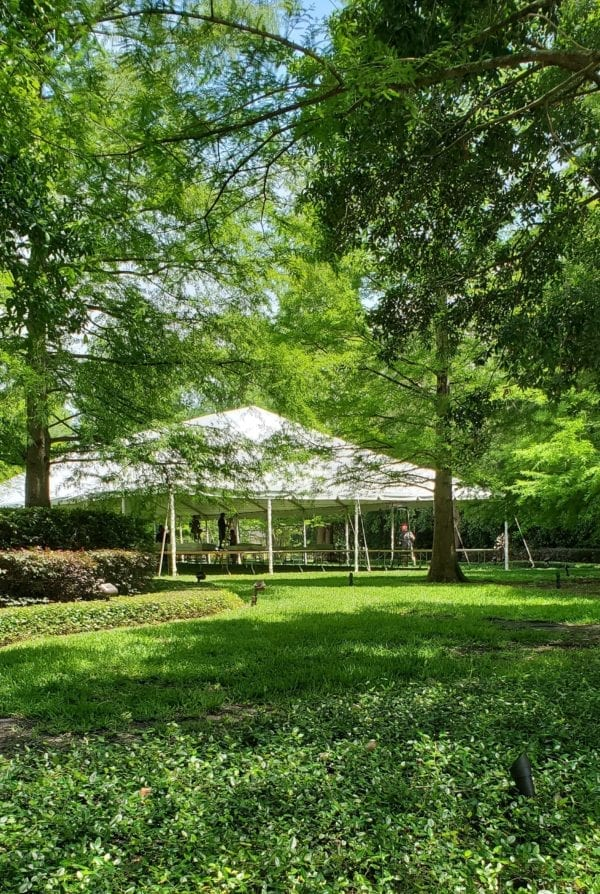 white tent at private residence in orlando florida