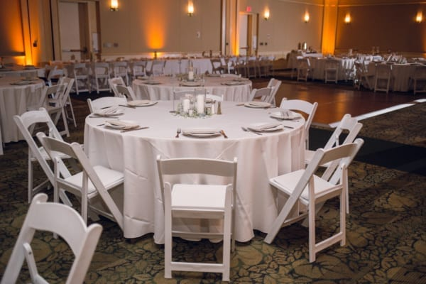 white, crisp, neutral, classic, folding chair, banquet, wedding, bright