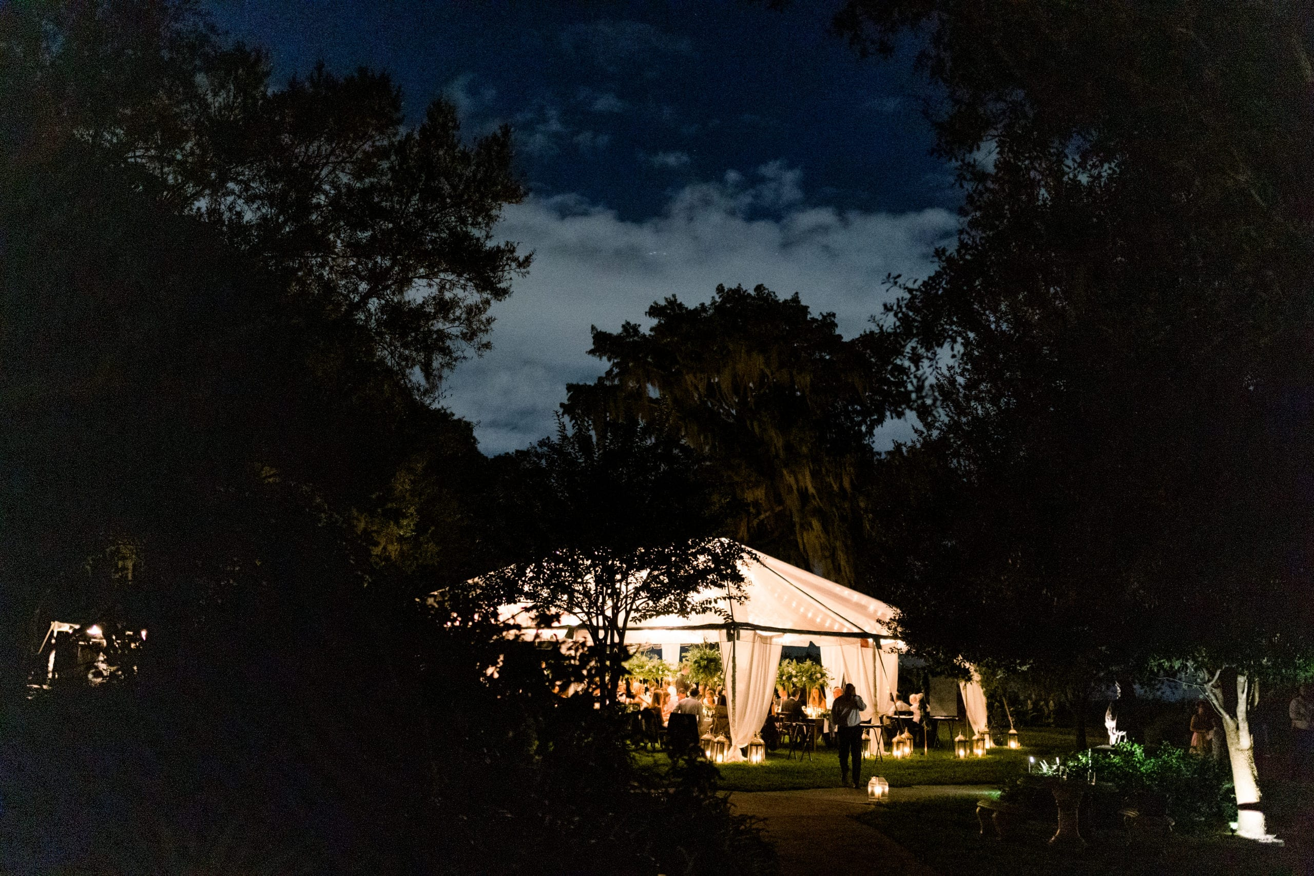 clear tent at capen house in winter park florida