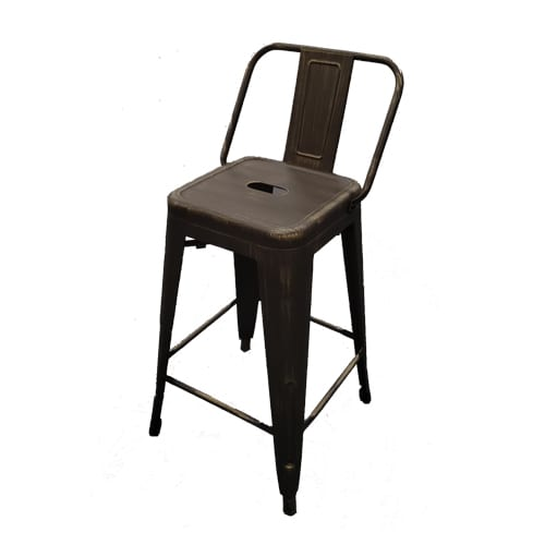 Miraculous Black Washed Industrial Barstools Ncnpc Chair Design For Home Ncnpcorg