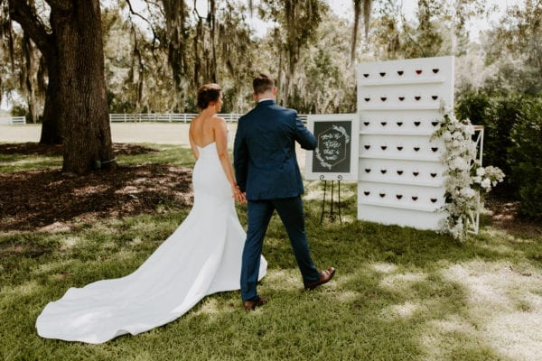 romantic wine vineyard themed wedding at bramble tree estate in sorrento florida with rentals from orlando wedding and party rentals