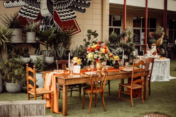 70s themed lgbt wedding at east end market